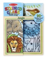 Peel and Press Stained Glass Stickers, Jungle