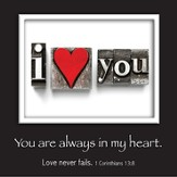 Picture Magnet, I Love You, I Corinthians 13:8