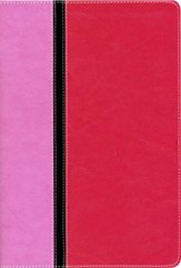 Quest Study Bible, The Question and Answer Bible Italian Duo-Tone, Orchid/Raspberry - Slightly Imperfect