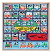 ABC Train Lacing Beads
