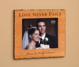 Personalized, Love Never Fails Photo Frame, Cherry