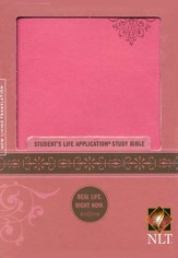 NLT Student Life Application Bible, Personal Size,  Imitation Leather, Pink
