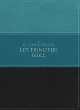NIV, The Charles F. Stanley Life Principles Bible, Imitation Leather, Green and Black - Slightly Imperfect