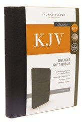KJV, Deluxe Gift Bible, Imitation Leather, Black, Red Letter Edition