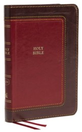 KJV, Thinline Bible, Compact, Imitation Leather, Burgundy