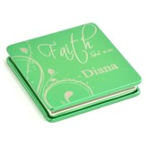 Personalized, Faith Compact Mirror, Green