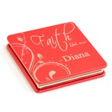 Personalized, Faith Compact Mirror, Red