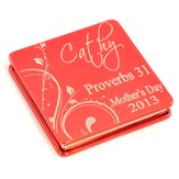 Personalized, Proverbs 31 Red Compact Mirror
