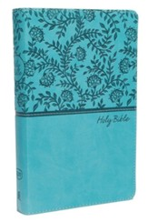 KJV, Deluxe Gift Bible, Imitation Leather, Teal Red Letter Edition