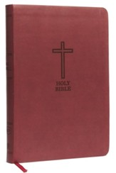 KJV, Value Thinline Bible, Large Print, Imitation Leather, Burgundy, Red Letter Edition