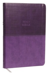KJV, Value Thinline Bible, Large Print, Imitation Leather, Purple, Red Letter Edition