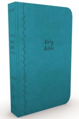 KJV, Value Thinline Bible, Large Print, Imitation Leather, Blue, Red Letter Edition