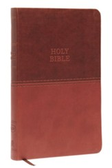 KJV, Value Thinline Bible, Standard Print, Imitation Leather, Brown, Red Letter Edition