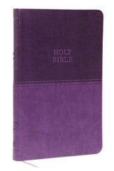 KJV, Value Thinline Bible, Standard Print, Imitation Leather, Purple, Red Letter Edition