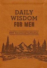 Daily Wisdom for Men Devotional Collection, 2017 Edition--Imitation Leather brown