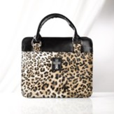Leopard Print Purse Style Bible Cover, Medium