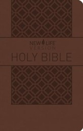 NLV Study Bible with Topical Outlines--imitation leather, brown