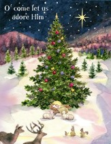 come let us adore him christmas cards box of 18