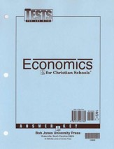 BJU Heritage Studies 12: Economics, Tests Answer Key