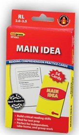 Reading Comprehension Practice Cards: Main Idea, Red Level