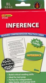 Inference Reading Comprehension Practice Cards, Green Level