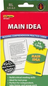 Reading Comprehension Practice Cards: Main Idea, Green Level