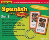 Spanish in a Flash Flash Cards, Set  1