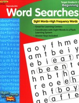 Sight Word Searches, Beginning, Grades K-1