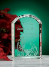 Christ The Savior Is Born, Personalized Crystal Plaque