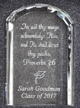 Personalized, Crystal Tablet Plaque, Graduation
