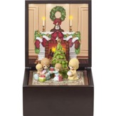 LED Family Christmas Heirloom Music Box