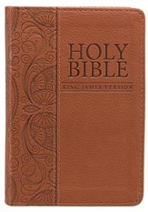 KJV Mini Pocket Bible, Lux, Leather, Tan
