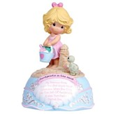 Footprints In The Sand Girl Musical Figurine, Precious Moments