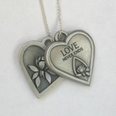 Memorial Tear Heart Tokens Pendant