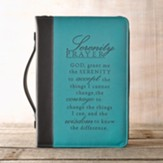 LuxLeather Serenity Prayer Bible Cover, Large