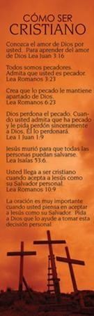 C�mo Ser Cristiano, 25 Marcadores  (Becoming a Christian, 25 Bookmarks)