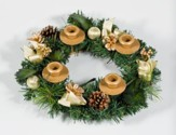 Traditional Pine Cone Advent Wreath
