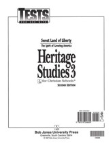 BJU Heritage Studies Grade 3, Tests