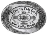 Give Us This Day--Handcast Metal Tray