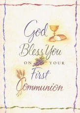God Bless You; First Communion Cards; Package of 6