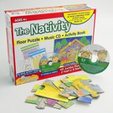 The Nativity Floor Puzzle, Music CD & Activity Book Set