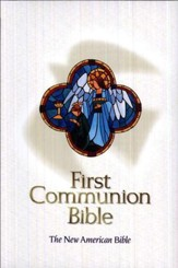 NAB First Communion Bible, Imitation leather, White  - Slightly Imperfect