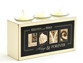 Personalized, Love Triple Votive Holder
