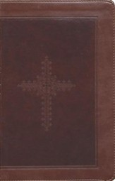 KJV Personal Size Giant Print End of Verse Reference Bible, Imitation leather, chocolate--indexed