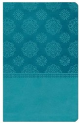 NKJV Center Column Reference Bible, Imitation leather, turquoise--indexed