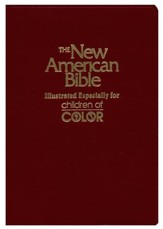 NAB Children of Color Bible, Imitaton Leather, Burgundy