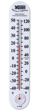 Indoor/Outdoor Classroom Thermometer