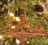 Personalized Nativity Silhouette Ornament