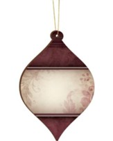 Blank, Bulb Ornament, Red, Clearance