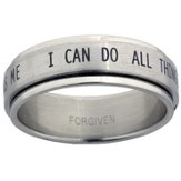I Can Do All Things Spinner Ring, Size 9